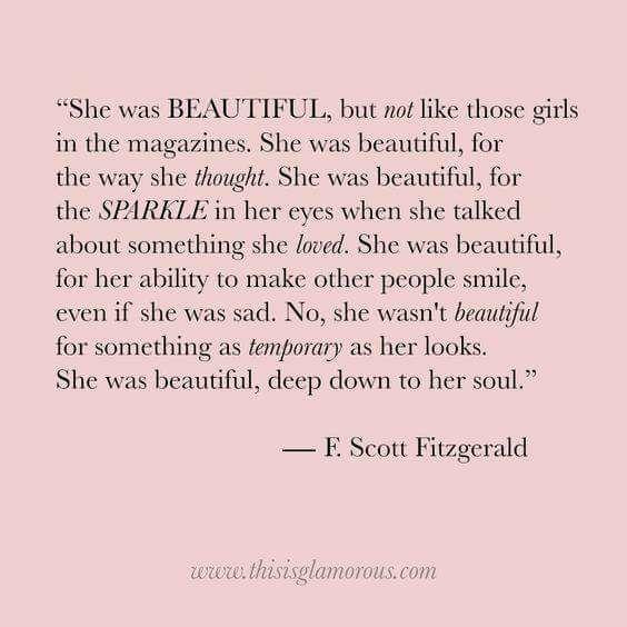 She was beautiful...