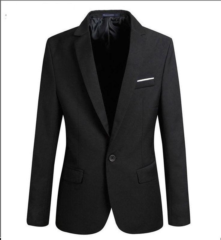 2017 New Suit Jacket For Men Terno Masculino Suit Blazers Jackets Traje Hombre Men's Casual Blazer 2 Colors Size S-XXL