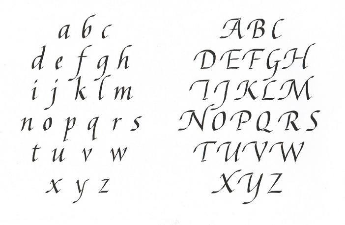 Alfabet met schreven