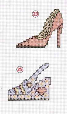 0 point de croix chaussures - cross stitch shoes