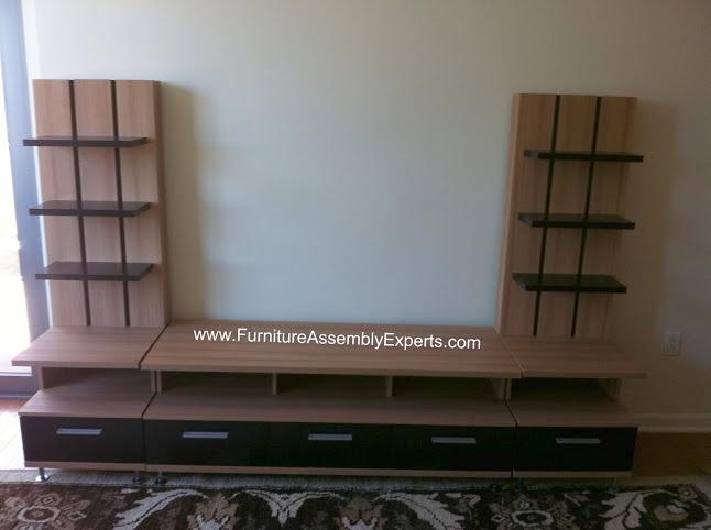 Wayfair nexera entertainment center assembled in Baltimore MD by Furniture assembly experts LLC