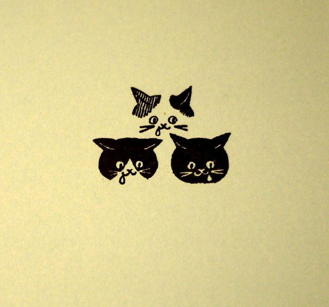 はんこ*ネコ3匹 by nuw 文房具・ステーショナリー はんこ