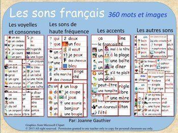 Les sons français en images - French phonics illustrated w