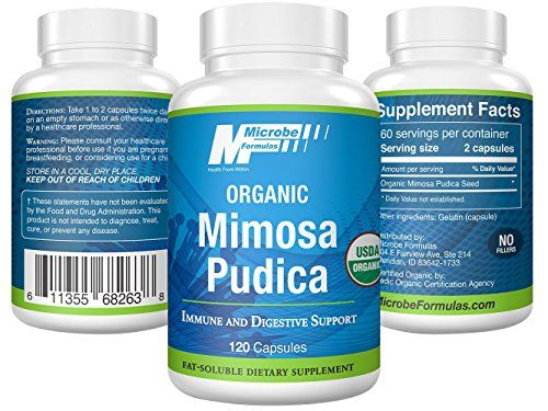 Intestinal Support - Microbe Formulas Mimosa Pudica- 120
