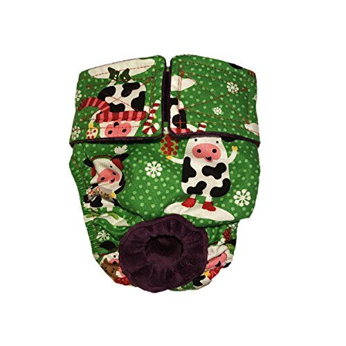 Dog Diapers  Made in USA  Holiday Cows Washable Dog Diaper XXL for Incontinence Housetraining and Dogs in Heat * Click image for more details.