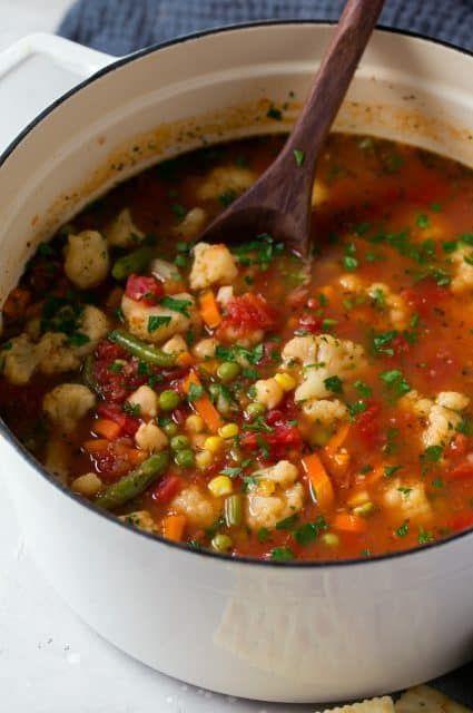 Super+Easy+Cauliflower+Vegetable+Soup