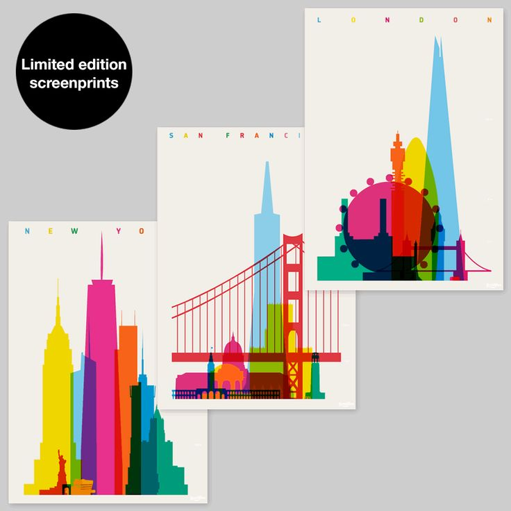 My two favorite cities in the perfect color scheme. Wow.
