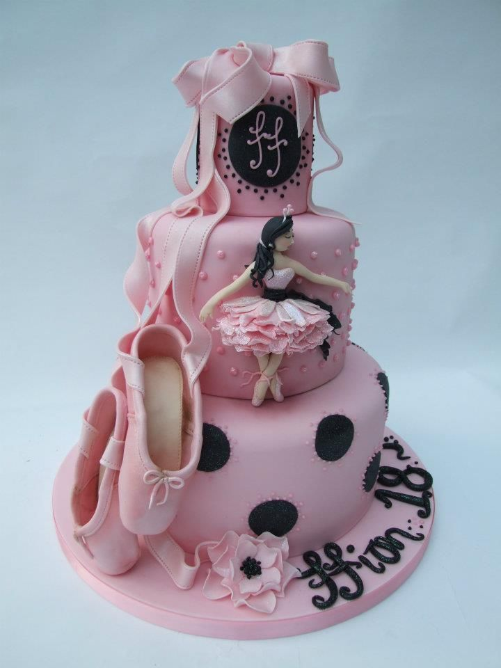 Ballet design cake... Can't wait to force my daughter into a tutu so I can make her a cake like this!!