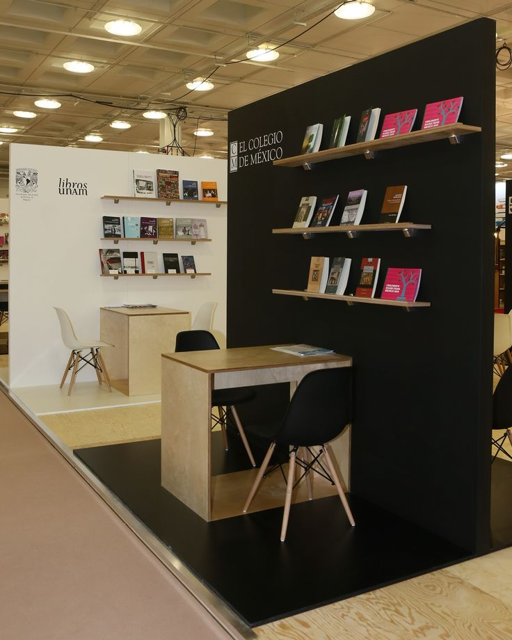 The stand of the Secretary of Culture of Mexico at the London Book Fair at London Olympia. The stand was 20.5m x 8m. We designed and built the stand around 9 individual modules that can easily be constructed and transported to the Frankfurt Book Fair later this year.