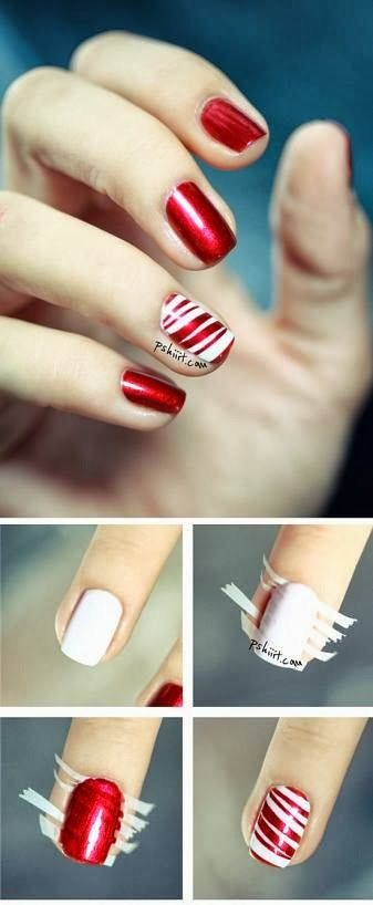 DIY nails | DIY and Crafts photos @Hannah Mestel Mestel Mestel Mestel Gentry  we need to do this for our nails this Christmas!