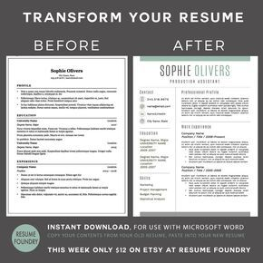 Transform your old resume into a modern version. Very simple just download the…