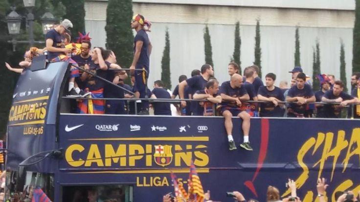 Rúa de la celebración de los campeones de la liga española de fútbol, el FC Barcelona, 2015-2016. #FCB #Barça #Barcelona #FCBarcelona #ligaespañola