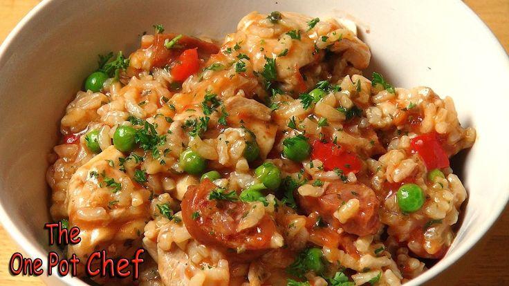 Easy Chicken and Chorizo Risotto | One Pot Chef