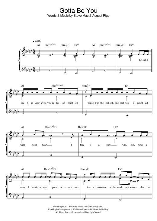 Nouvelle partition piano sur Modern Score !    One Direction: Gotta Be You - Partition Piano Facile    #sheetmusic #piano #OneDirection #