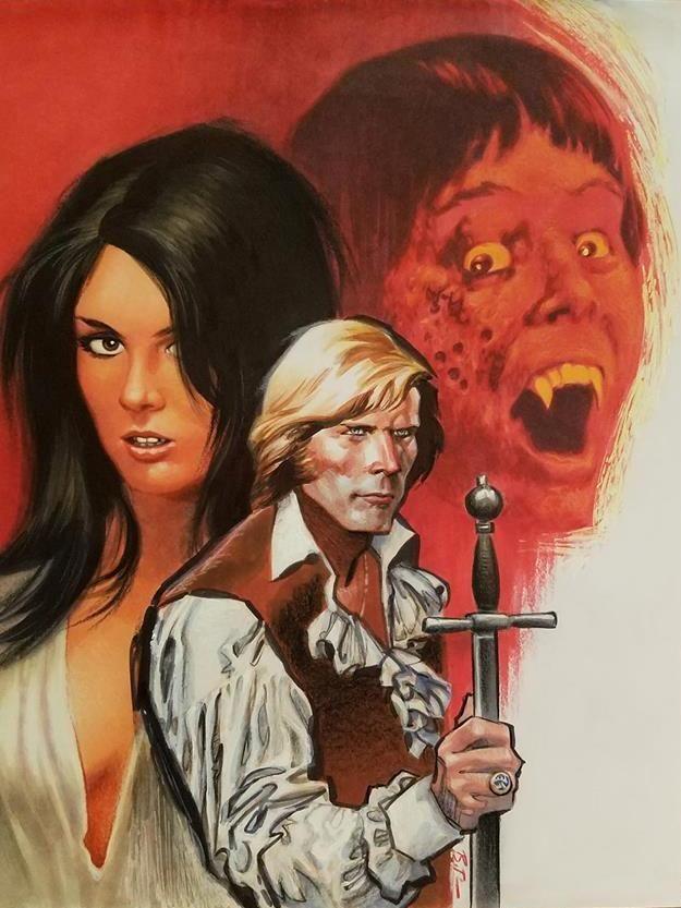 Little Shoppe of Horrors #18 cover: Captain Kronos - Vampire Hunter (1974)    Bruce timm, Frank miller comics, Cartoon art
