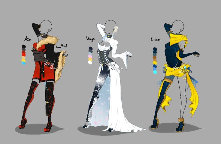 Outfit design - Zodiacs - 2 - openby LotusLumino* | Outfit design - Zodiacs - 3 - open by LotusLumino on DeviantArt