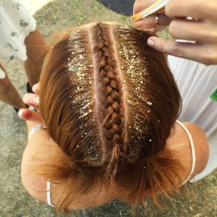 The glitter roots hair trend is the official hairstyle of the 2016 music festival season.