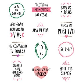 Pack 053 | Frases positivas gestuales en internet