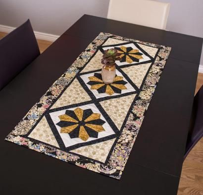 Timeless Treasures Tonga Treat Prism Puzzle Table Runner Timeless Treasures Simply Elegant Table Runner Kit RJR Migration Table…