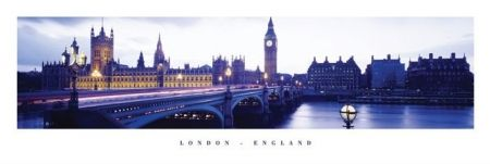 Londyn (Anglia) - plakat - 91,5x30,5 cm  Gdzie kupić? www.eplakaty.pl