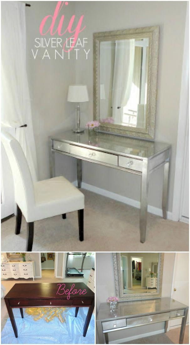 Diy Makeup Vanity Makeover Tutorial Cheap Diy Makeup Vanity Table Ideas Remodelingideasdiy Decoracao De Quarto Decoracao Ideias