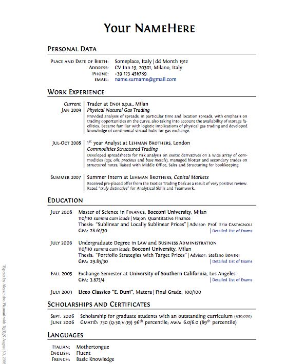 How To Write A Work Resume - Experts' opinions