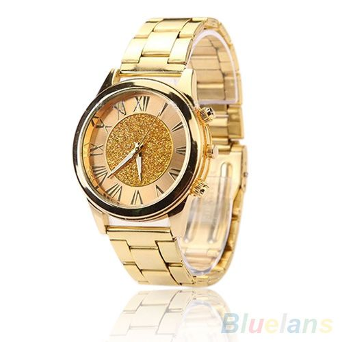 Trendy-Gorgeous-Powder-Roman-Numeral-Stainless-Steel-Quartz-Analog-Wrist-Watch