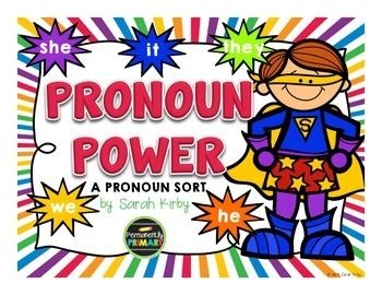 PRONOUN: Students will sort the sentence strips onto the correct mat to determine if they can be replaced with he, she, it, we, or they.  FREE