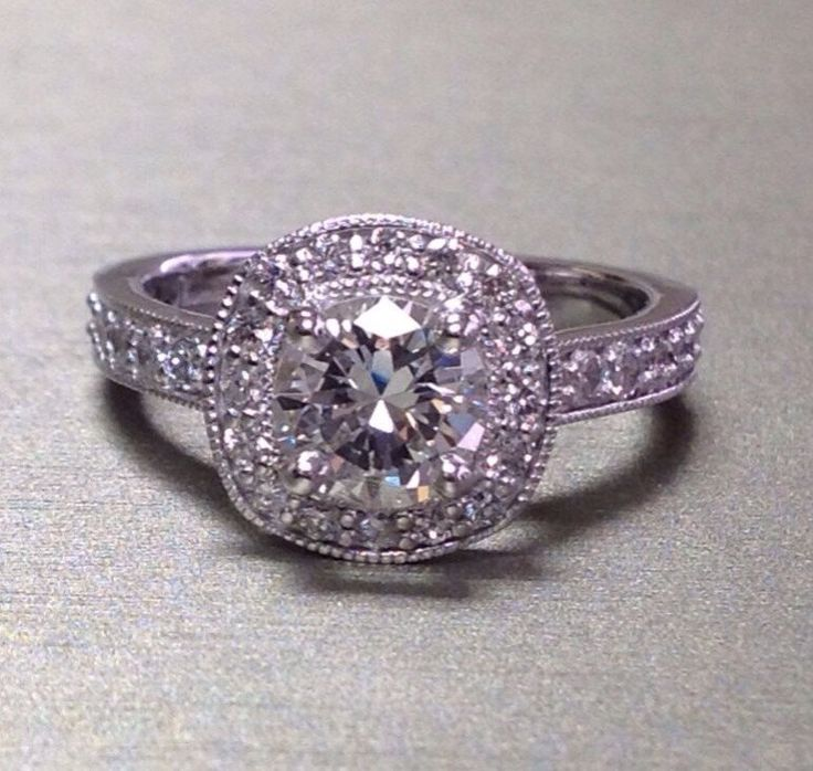 Diamond Halo Ring Semi Mount by ThomasOJewelryDesign on Etsy https://www.etsy.com/listing/205832479/diamond-halo-ring-semi-mount