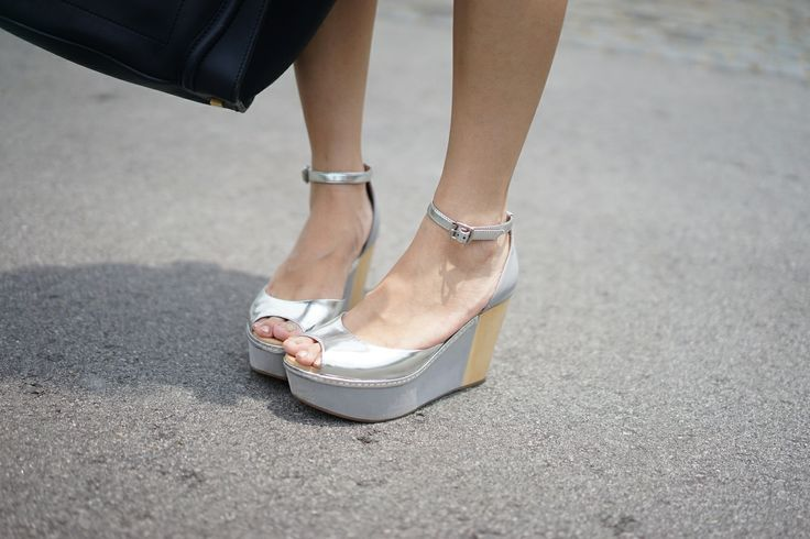 Venilla Suita peep-toe silver and wood ankle-strap wedge sandals
