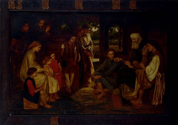 St John the Evangelist teaching the New Commandment'That ye love one another'  by Valentine Cameron Prinsep (ARC)