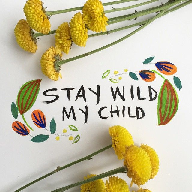 """""""for all the kiddos out there, ages 1-91. #illustration #flora"""""""