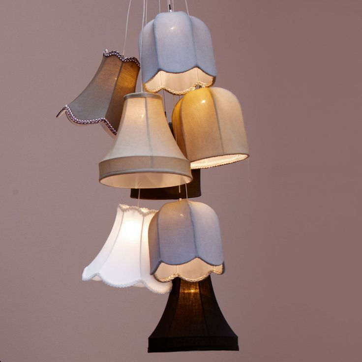 All those little chandelier shades that are so cute?