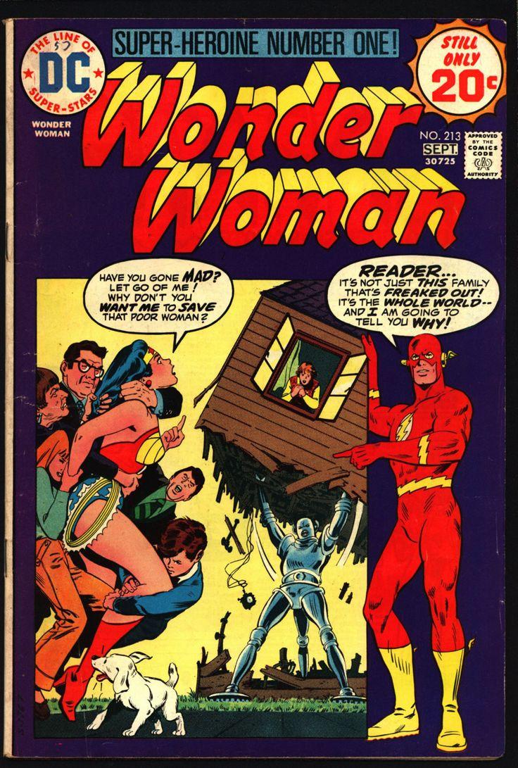 WONDER WOMAN #213 August 1974 The FLASH Cary Bates Irv Novick Classic Feminist Amazon Super-Hero