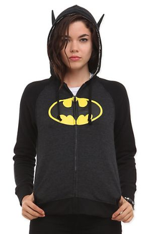 "Gifts for Teen Girls:  DC Comics ""I Am Batman"" Girls Hoodie @ Hot Topic"