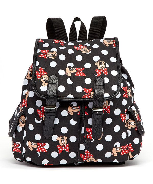 Look at this Black Minnie Mouse Polka Dot Backpack on #zulily today!