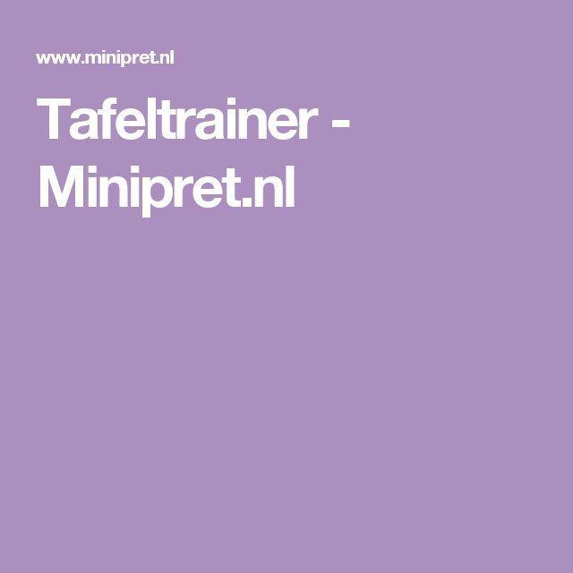 Tafeltrainer - Minipret.nl