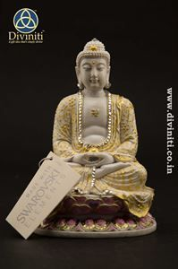 Lord Buddha Statue      http://diviniti.co.in/en/yellow-hand-painted-buddha
