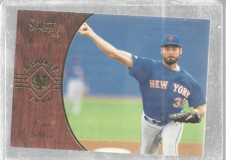 1996 Paul Wilson Pinnacle Select New York Mets Rookie 162 Baseball TradingCard   #Pinnacle #NewYorkMets
