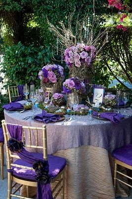 Pretty Purples   Table Setting @Natasha S C Tejeda. Purple Table SettingsPurple  TableclothPurple ...