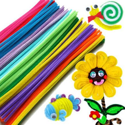 50pcs/set Plush Stick & Shilly-Stick Children's Educational Toys Handmade Art DIY Materials and Craft Materials Игрушки Для Купания