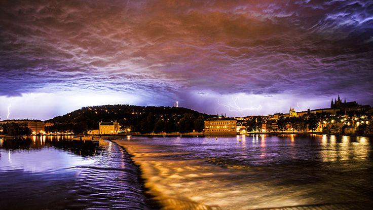 storm over Prague