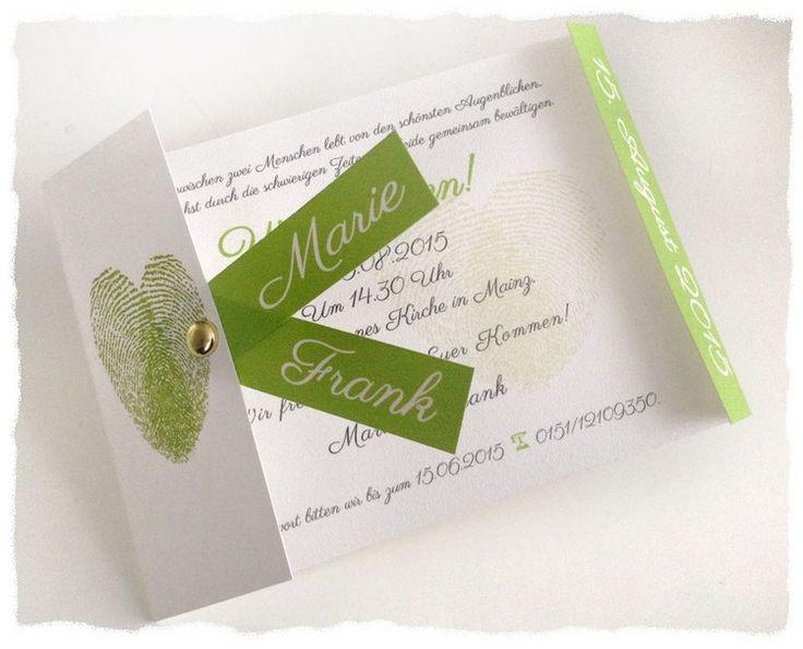 Einladung Model Fingerabdruck grün
