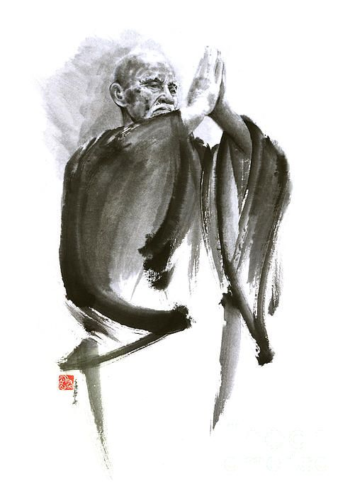 Morihei Ueshiba Sensei Aikido Martial Arts Art Japan Japanese Master Sum-e…