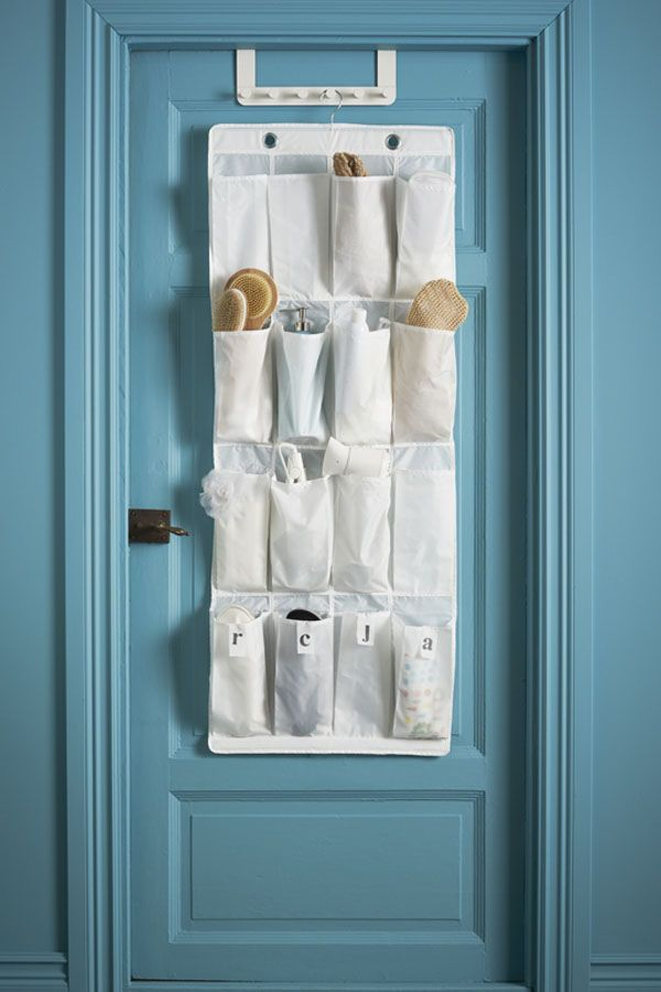 Skubb Hanging Shoe Organizer W 16 Pockets White