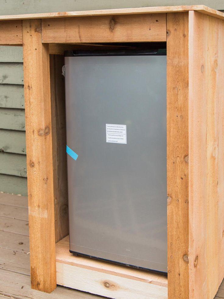 Image result for outdoor refrigerator cabinet diy