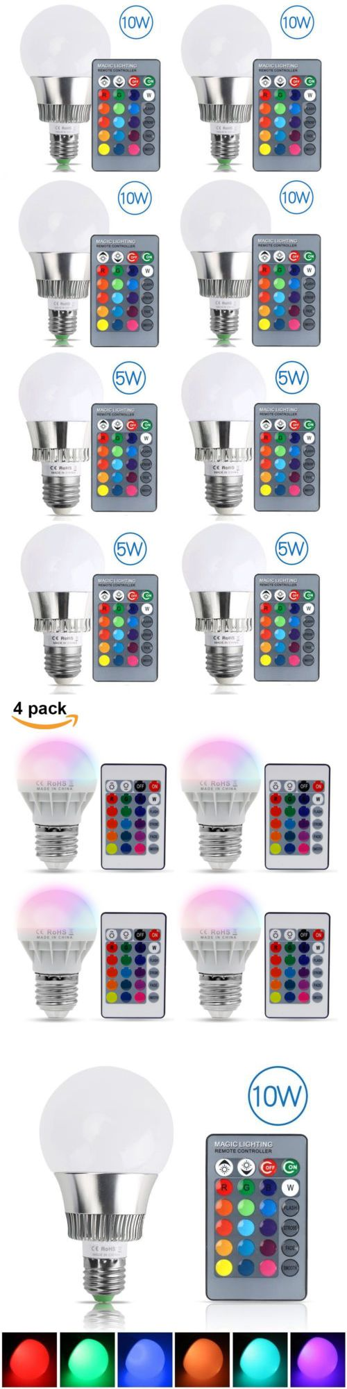 This controller lets you control 4 different branches of lights - Light Bulbs 20706 3w 5w 10w E27 Rgb Led Light Bulb Magic Lamp 16 Color