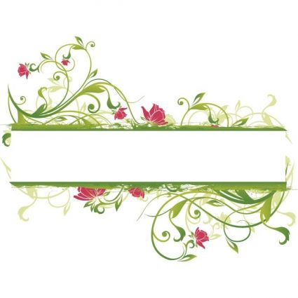 vector branch with green leaves banner