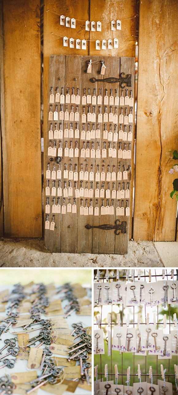 Decoracion de boda con llaves #weddingdecor #bodas #bodasvintage