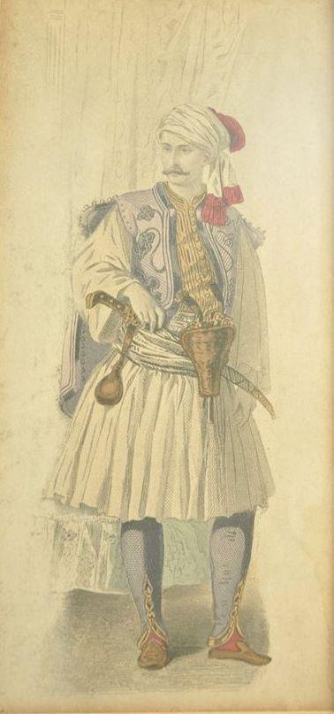 Άντρας με φουστανέλλα - Man with fustanella costume.